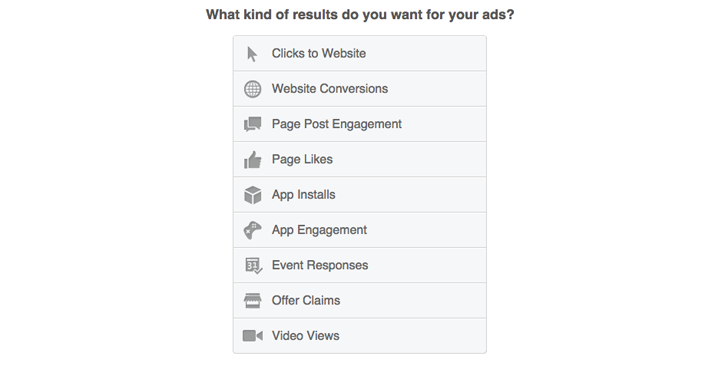 Facebook広告の目標を設定